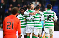 1st December 2019; Global Energy Stadium, Dingwall, Highland, Scotland; Scottish Premiership Football, Ross County versus Celtic; Tom Rogic of Celtic celebrates with his team mates after he makes it 3-1 in the 67th minute - Editorial Use
