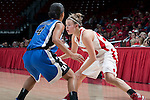 Wisconsin Badgers guard Alyssa Karel (30) handles the ball during an NCAA college women's basketball game against the Duke Blue Devils during the ACC/Big Ten Challenge at the Kohl Center in Madison, Wisconsin on December 2, 2010. Duke won 59-51. (Photo by David Stluka)