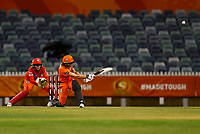 1st November 2019; Western Australia Cricket Association Ground, Perth, Western Australia, Australia; Womens Big Bash League Cricket, Perth Scorchers versus Melbourne Renegades; Meg Lanning of the Perth Scorchers sweeps to the boundary for six - Editorial Use