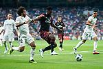 Real Madrid Marcelo and A.C. Milan Frank Kessie during Santiago Bernabeu Trophy match at Santiago Bernabeu Stadium in Madrid, Spain. August 11, 2018. (ALTERPHOTOS/Borja B.Hojas)