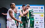 S&ouml;dert&auml;lje 2014-04-15 Basket SM-Semifinal 5 S&ouml;dert&auml;lje Kings - Uppsala Basket :  <br /> S&ouml;dert&auml;lje Kings Toni Bizaca jublar med S&ouml;dert&auml;lje Kings Martin Pahlmblad efter slutsignalen<br /> (Foto: Kenta J&ouml;nsson) Nyckelord:  S&ouml;dert&auml;lje Kings SBBK Uppsala Basket SM Semifinal Semi T&auml;ljehallen jubel gl&auml;dje lycka glad happy