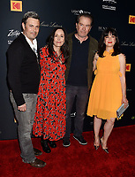 LOS ANGELES, CA - APRIL 09: (L-R) Carlos Bernard, guest, Timothy Hutton and Pamela B. Green attend the Los Angeles Premiere of Be Natural - The Untold Story of Alice Guy- Blaché at the Harmony Gold Theatre on April 9, 2019 in Los Angeles, California.<br /> CAP/ROT/TM<br /> ©TM/ROT/Capital Pictures