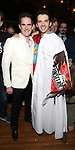 Andy Blankenbuehler and Kevin Worley  attend the Actors' Equity Broadway Opening Night Gypsy Robe Ceremony honoring Kevin Worley from 'Bandstand' at the Bernard B. Jacobs Theatre on 4/26/2017 in New York City.