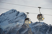 Ski lift from Grindelwald to First - Swiss Alps - Switzerland