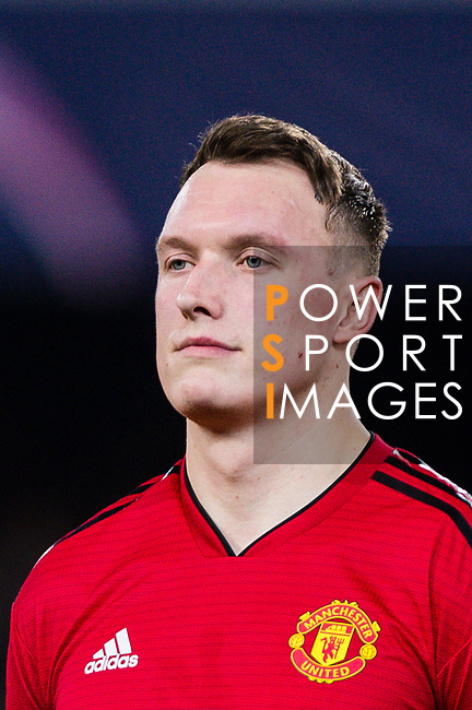 Phil Jones of Manchester United getting into the field during the UEFA Champions League 2018-19 match between Valencia CF and Manchester United at Estadio de Mestalla on December 12 2018 in Valencia, Spain. Photo by Maria Jose Segovia Carmona / Power Sport Images