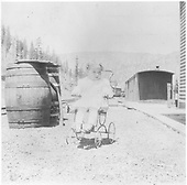 Child in stroller in the year 1915 at Vance Junction.<br /> RGS  Vance Junction, CO  Taken by Joyce, W. D. - 1915