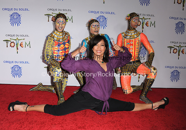 Carrie Ann Inaba  attends Totem from Cirque du Soleil Premiere at Santa Monica Pier in Santa Monica, California on January 21,2014                                                                               © 2014 Hollywood Press Agency