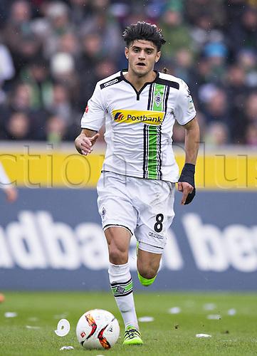 20.02.2016. Borussia Park, Mönchengladbach, North Rhine-Westphalia, Germany. Bundesliga football, Borussia Moenchengladbach verus Cologne.  Mahmoud Dahoud (BMG)