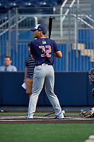Kevin Sim (32) during the Under Armour All-America Game Practice, powered by Baseball Factory, on July 21, 2019 at Les Miller Field in Chicago, Illinois.  Kevin Sim attends Torrey Pines High School in San Diego, California and is committed to San Diego State University.  (Mike Janes/Four Seam Images)