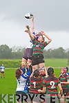 Tralee's Siobhan Fleming gets up for the ball against Highfeild in the Women's All Ireland league on Sunday.