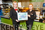 Byrnes Spa Caherslea received the Top of Tree High Standards of  Hygiene and Food Safety Award. L to r: Deirdre Fitzgibbon (Manager) and Selina Morris.