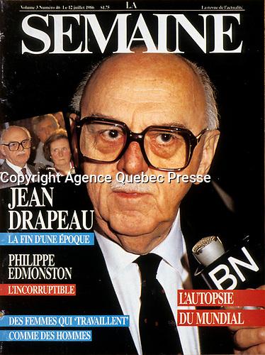 Publication  en couverture de la SEMAINE<br /> <br /> <br /> Photo : Pierre Roussel