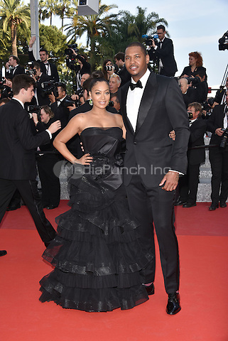 Carmelo Anthony and La La Anthony<br /> 'Loving' screening arrivals during the 69th International Cannes Film Festival, France May 16, 2016.<br /> CAP/PL<br /> &copy;Phil Loftus/Capital Pictures /MediaPunch ***NORTH AND SOUTH AMERICA ONLY***