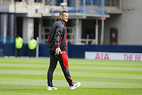 Jack Wilshere of Bournemouth (on loan from Arsenal) inspects the pitch ahead of the Premier League match between Tottenham Hotspur and Bournemouth at White Hart Lane, London, England on 15 April 2017. Photo by Mark  Hawkins / PRiME Media Images.