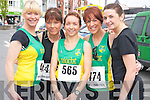 Pictured at the Killarney Lions Club 10k road race on Sunday were Eilish O'Leary, Tina Donovan, Siobhan Daly, Caroline Martin and Collette Mallon, An Riocht...................