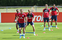 Captain Harry Kane (Tottenham Hotspur) of England with teammates during an open England football team training session at Stade Omnisport, Croissy sur Seine, France  on 12 June 2017 ahead of England's friendly International game against France on 13 June 2017. Photo by David Horn/PRiME Media Images.