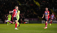 Lincoln City's Harry Anderson, left, celebrates scoring the opening goal<br /> <br /> Photographer Chris Vaughan/CameraSport<br /> <br /> The EFL Sky Bet League One - Lincoln City v Bolton Wanderers - Tuesday 14th January 2020  - LNER Stadium - Lincoln<br /> <br /> World Copyright © 2020 CameraSport. All rights reserved. 43 Linden Ave. Countesthorpe. Leicester. England. LE8 5PG - Tel: +44 (0) 116 277 4147 - admin@camerasport.com - www.camerasport.com