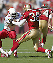 Quentin Harris during the Cardinals v. 49ers game on October 10, 2004...49ers win 31-28..Rob Holt / SportPics