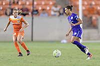 Houston, TX - Saturday Sept. 03, 2016: Cami Privett, Kristen Edmonds during a regular season National Women's Soccer League (NWSL) match between the Houston Dash and the Orlando Pride at BBVA Compass Stadium.