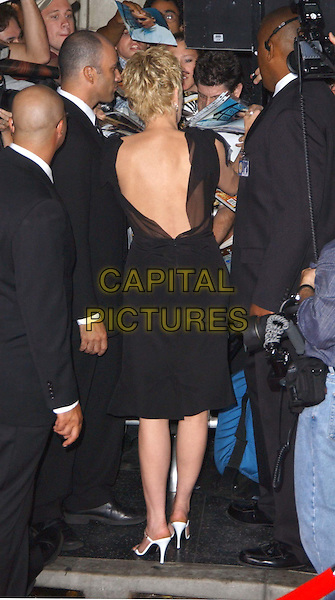 SHARON STONE  .Cold Creek Manor L.A premiere.full length, full-length, little black dress, white handbag, stilettos, heels, shoes, sandals, back, crowd, fans, security, bodyguards.www.capitalpictures.com.sales@capitalpictures.com.© Capital Pictures