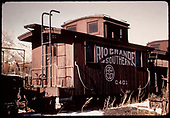 RGS caboose #0401 at Ridgway.<br /> RGS  Ridgway, CO
