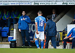 St Johnstone v Kilmarnock...07.11.15  SPFL  McDiarmid Park, Perth<br /> Graham Cummins goes off injured<br /> Picture by Graeme Hart.<br /> Copyright Perthshire Picture Agency<br /> Tel: 01738 623350  Mobile: 07990 594431