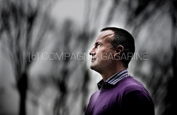 Former Belgian football player and coach Thomas Caers (Belgium, 12/02/2013)