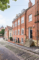 BNPS.co.uk (01202 558833)<br /> Pic: Rightmove/BNPS<br /> <br /> The home is on one of England's steepest hills<br /> <br /> A period property halfway up one of England's steepest hills is not a home for the faint-hearted.<br /> <br /> The buyer of this house - on the market for £975,000 - will need to be an energetic fitness fan to face the tough slog up the aptly named Steep Hill; the fourth steepest street in the country.<br /> <br /> The Grade II Listed townhouse is on Christs Hospital Terrace in Lincoln, a quaint cobbled street that branches off Steep Hill.<br /> <br /> The road has an unusually severe 16.12-degree gradient, making it one of the steepest residential streets in England, according to the Ordnance Survey.