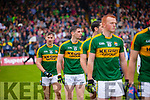 James O'Donoghue Kerry players in the pre match parade before the Munster Final at Fitzgerald Stadium, Killarney on Saturday evening.