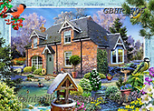 Howard, LANDSCAPES, LANDSCHAFTEN, PAISAJES,cottage,countryside, paintings+++++,GBHR905,#l#, EVERYDAY