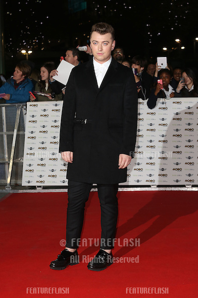 Sam Smith arriving for The MOBO Awards 2014 held at Wembley Arena, London. 22/10/2014 Picture by: James Smith / Featureflash