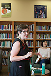 Dr. M. Geneva Murray, director of the Women's Center, leads the Women in Graduate School Coffee Hour in the Women's Center in Baker University Center on Tuesday, September 6, 2016.
