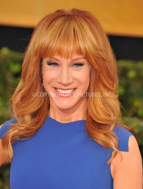 WWW.ACEPIXS.COM<br /> <br /> January 18 2014, LA<br /> <br /> Kathy Griffin arriving at the 20th Annual Screen Actors Guild Awards at The Shrine Auditorium on January 18, 2014 in Los Angeles, California.<br /> <br /> By Line: Peter West/ACE Pictures<br /> <br /> <br /> ACE Pictures, Inc.<br /> tel: 646 769 0430<br /> Email: info@acepixs.com<br /> www.acepixs.com