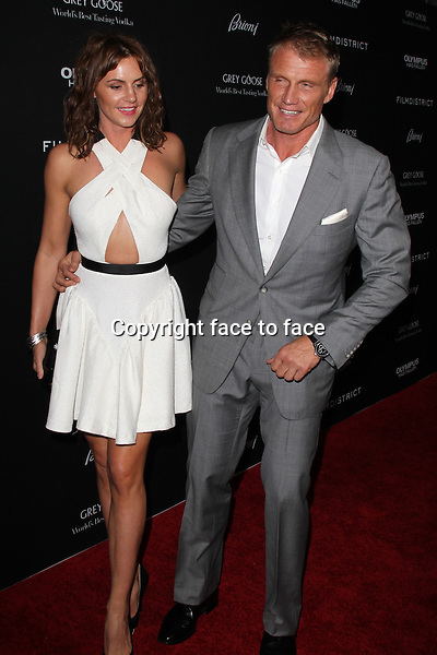 LOS ANGELES, CA - MARCH 18: Annette Qviberg and Dolph Lundgren at the Olympus Has Fallen film premiere at The ArcLight Cinemas in Los Angeles, California. March 18, 2013...Credit: MediaPunch/face to face..- Germany, Austria, Switzerland, Eastern Europe, Australia, UK, USA, Taiwan, Singapore, China, Malaysia and Thailand rights only -