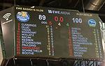 09.06.2019, EWE Arena, Oldenburg, GER, easy Credit-BBL, Playoffs, HF Spiel 3, EWE Baskets Oldenburg vs ALBA Berlin, im Bild<br /> Anzeigentafel mit dem Endstand 89 zu 100 Niederlage fuer die Baskets aus Oldenburg. Damit gewinnt ALBA Berlin die Halbfinalserie 3 zu 0 und zieht ins Finale gegen Bayern Muenchen ein. #Anzeigentafel<br /> <br /> Foto © nordphoto / Rojahn