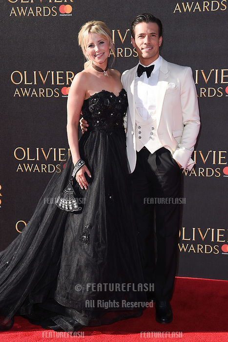 Carley Stenson &amp; Danny Mac at The Olivier Awards 2017 at the Royal Albert Hall, London, UK. <br /> 09 April  2017<br /> Picture: Steve Vas/Featureflash/SilverHub 0208 004 5359 sales@silverhubmedia.com