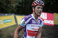 Tom Meeusen (BEL/Beobank Corendon) post race.<br /> <br /> cx Telenet Superprestige Gieten 2017 (NED)