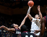 December 29th, 2012: California's Justin Cobbs shoots for the basket during a game against Harvard at Haas Pavilion in Berkeley, Ca Harvard defeated California 67 - 62
