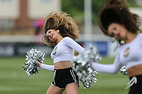 Half time entertainment from Cheer Leaders during the British & Irish Cup Final match between Ealing Trailfinders and Leinster Rugby at Castle Bar, West Ealing, England  on 12 May 2018. Photo by David Horn / PRiME Media Images.