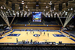 21 March 2014: A wide shot of Duke K Court. The University of Oklahoma Sooners held a training session the day before playing in an NCAA Division I Women's Basketball Tournament First Round game at Cameron Indoor Stadium in Durham, North Carolina.