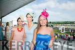 Enjoying the Listowel Races Ladies Day on Sunday were l-r  Noelle Clancy, Knockanure, Sandra Clancy, Bunyara and Marie Slaova from Killarney