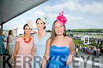 Enjoying the Listowel Races Ladies Day on Sunday were l-r  Noelle Clancy, Knockanure, Sandra Clancy, Bunyara and Marie Slaova from Killarney