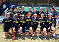 Tournament champions Epsom Girls' Grammar School. The 2017 New Zealand Secondary Schools 1st XI NZCT girls' cricket national finals at Fitzherbert Park in Palmerston North, New Zealand on Sunday, 3 December 2017. Photo: Dave Lintott / lintottphoto.co.nz