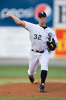 Starting pitcher Trey Delk #32 of the Bristol Sox in action versus the Princeton Rays at DeVault Memorial Stadium June 26, 2009 in Bristol, Virginia. (Photo by Brian Westerholt / Four Seam Images)
