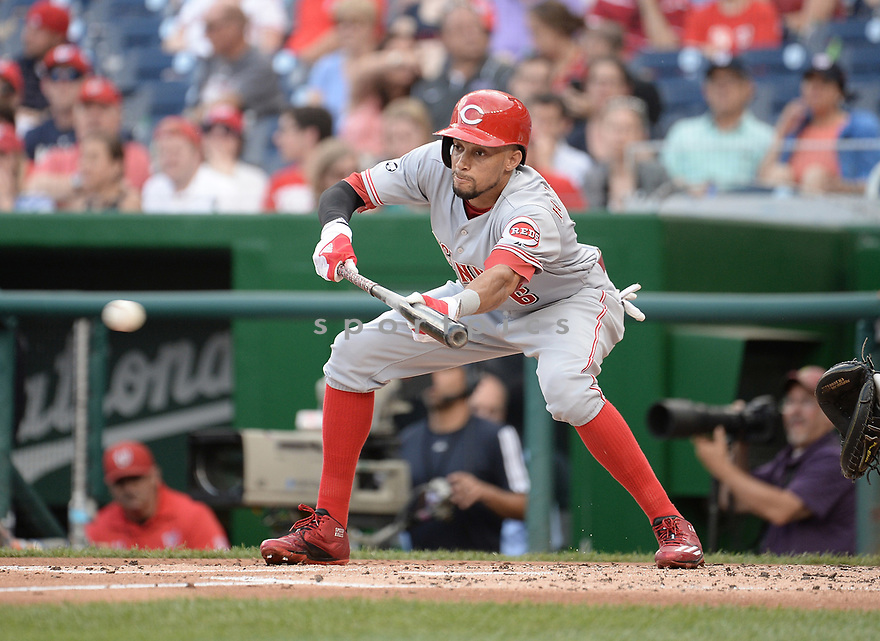 CIncinnati Reds Billy Hamilton (6) during a game against the Washington Nationals on July 1, 2016 at Nationals Park in Washington DC. The Nationals beat the Reds 3-2.
