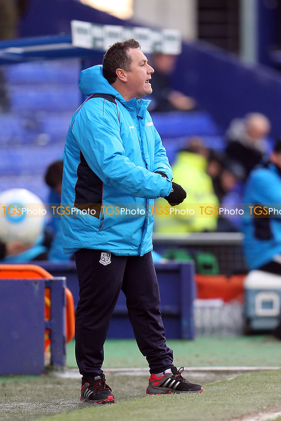 Tranmere Rovers manager Micky Mellon during Tranmere Rovers vs Dagenham & Redbridge, Vanarama National League Football at Prenton Park on 28th January 2017