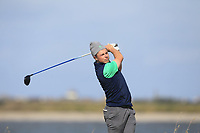 Conor Purcell from Ireland on the 10th tee during Round 2 Singles of the Men's Home Internationals 2018 at Conwy Golf Club, Conwy, Wales on Thursday 13th September 2018.<br /> Picture: Thos Caffrey / Golffile<br /> <br /> All photo usage must carry mandatory copyright credit (&copy; Golffile | Thos Caffrey)