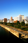 Oregon: Portland, Skyline from Morrison Bridge, Photo: orport105  .Photo copyright Lee Foster, www.fostertravel.com , 510/549-2202, lee@fostertravel.com