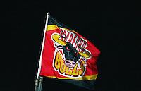 PICTURE BY VAUGHN RIDLEY/SWPIX.COM - Rugby League - Super League - Bradford Bulls v Leeds Rhinos - Odsal, Bradford, England - 06/04/12 - Bradford Bulls Flag.