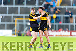 We Are The Boys:  Dr Crokes upung sharpshooters Micheal Burns and Jordan Kiely celebrate at the final whistle against Kenmare  during the SFC final in Fitzgerald Stadium on Sunday